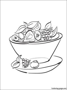 Fruit Salad Coloring Page Pages