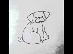 Drawing a pug Bah Humpug style - YouTube