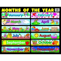 Days of the week chart ollies schoolhouse pinterest students chartlet months of the year 17 x 22 publicscrutiny Image collections