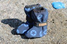 """Stiefel & Booties - Softshell- Füßlinge/Überzieher """"Sterntaler blau"""" - ein Designerstück von Dreckspatz_Shop bei DaWanda"""