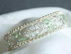 wire bracelet with beads