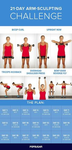 Arm Workout Challenge for Women to Lose Arm Fat If you're wondering how to lose arm fat fast?, give this 30 day arm workout challenge a go. Your arms are an important part of your body. In fact, there is no…Read more → Body Fitness, Health Fitness, Workout Fitness, Fat Workout, Workout Schedule, Mens Fitness, Workout Plans, Fitness Shirts, Workout Routines