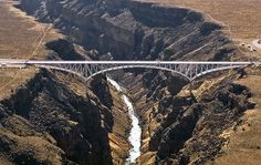 Baggage Fees – Fear of Heights Travel New Mexico, Taos New Mexico, Gulf Of Mexico, Cool Places To Visit, Great Places, Rio Grande Gorge, Rickety Bridge, Famous Bridges, Aerial Images