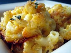 Baked Macaroni and Cheese. Baked Macaroni and Cheese - my childhood favorite and my adulthood classic recipe. I Love Food, A Food, Good Food, Yummy Food, Healthy Food, Cheese Recipes, Pasta Recipes, Cooking Recipes, Recipe Pasta