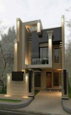 54 Trendy Ideas House Design Exterior Modern Dream Homes House Front Design, Modern House Design, Modern House Exteriors, House Exterior Design, Architecture Design, Contemporary Architecture, Contemporary Landscape, Contemporary Decor, Contemporary Stairs