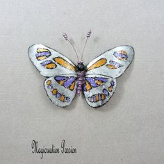 Silver Purple Plastic Butterfly magnet orange Apis 1 Magnet: romantic wall decor, lamp shade, curtain, made in France Surface Table, Wrought Iron Decor, Orange And Purple, Magnets, Decoration, Wall Decor, Butterfly, Romantic, Curtains