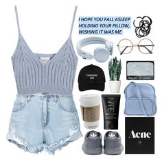 """""""♡ two households"""" by zebralover-333 ❤ liked on Polyvore featuring Nobody Denim, Chicnova Fashion, adidas, Urbanears, NARS Cosmetics, Jil Sander Navy, meghansfashion and megs12laterdaysofsets"""