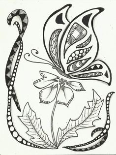 Simple Zentangle Butterfly
