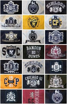 Crests & Emblems - Golf by Matthew Thomas, via Behance