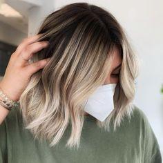 Platinum Blonde Balayage, Blonde Balayage Bob, Short Balayage, Hair Color Balayage, Blonde Streaks, Medium Balayage Hair, Shoulder Length Hair Balayage, Partial Balayage, Blonde Waves