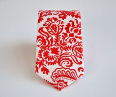 red and white damask