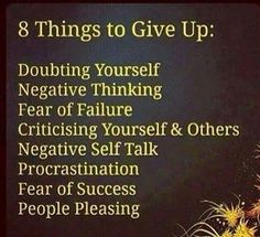 8 THINGSTO GIVE UP.