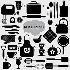 Cozinha ícone do fundo