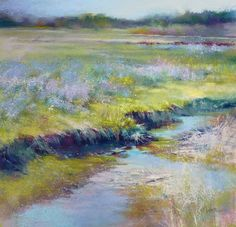 """Daily Paintworks - """"Life on the Edge"""" - Original Fine Art for Sale - © Barbara Benedetti Newton Pastel Landscape, Watercolor Landscape, Abstract Landscape, Landscape Paintings, Abstract Art, Hanging Paintings, Pastel Art, Pastel Paintings, Country Art"""