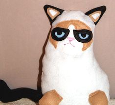 Grumpy Cat Plush  Instant Download  PDF Pattern by LittleCrickets, $6.00