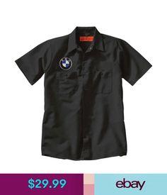 c49596d74f4b Casual Shirts Bmw Custom Black Mechanic Work Shirt W  Embroidered Patch  Auto Racing  ebay