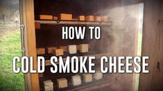 How to Cold Smoke Cheese Smoked Cheese, Smoke Grill, Smokehouse, Smoker Recipes, Preserving Food, Maze, Homesteading, Food Ideas