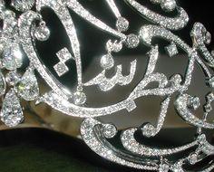 Detail view of The Arabic Scroll tiara