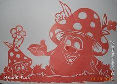 Картина панно рисунок Вырезание Вытынанки обезьянки и осенняя  Бумага фото 6