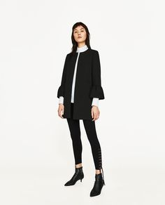 FRILLED SLEEVE COAT-View All-OUTERWEAR-WOMAN | ZARA United States