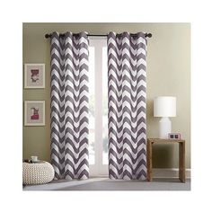 IKEA FERLE Curtains 1 Pair White Gray 20 CAD Liked On Polyvore Featuring Home Decor Window Treatments Textured P