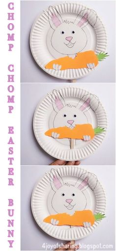 Playful And Easy Easter Bunny Craft For Kids #EasterCrafts #KidsCrafts #PaperPlateCrafts