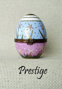 PRESTIGE Painted Eggs  AF Limoges Boxes Hand painted Porcelain from Limoges, France.
