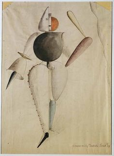 Preliminary Sketch For The Triadic Ballet Oskar Schlemmer 1919
