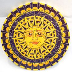 Mosaic Wall Art Handmade Ceramic Tile Purple Sun 16 via Etsy Good Day Sunshine, You Are My Sunshine, Mosaic Wall Art, Mosaic Glass, Ceramic Mask, Sun Moon Stars, Sun Designs, Sun Art, Moon Design