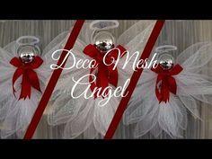 Deco Mesh Angel Tutorial Less than $2.00!! Dollar Tree DIY, Hip n Creative, My Crafts and DIY