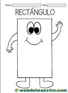 107 Mejores Imágenes De Figura El Rectángulo Preschool 1st