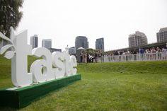 The famous Taste letters at #TasteofToronto // #Toronto #brand #marketing #festival #event #food