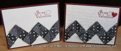 Valentine card by Stamp & Scrap with Frenchie: Chevron Boarder with Designer Paper