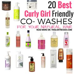 20 Curly Girl Friendly Co-Washes For Natural Hair