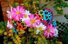 Rave Bra  The Rainbow Daisy by ICaughtTheSun on Etsy, $85.00