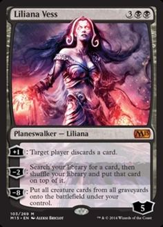 Liliana-Vess-x1-Magic-the-Gathering-1x-Magic-2015-mtg-card-lot-planeswalker-NM