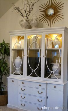 china cabinet as dresser/tv storage  II  one room challenge ~ a craigslist bedroom reveal