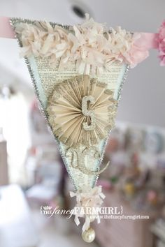 Banner idea from the fancy farm girl...note that it contains one of those pesky pinwheels