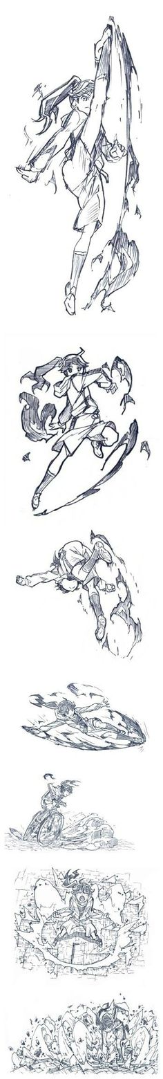 Girl doing action poses: kicking and boxing - drawing reference Drawing Reference Poses, Drawing Poses, Manga Drawing, Figure Drawing, Drawing Sketches, Art Drawings, Gesture Drawing, Movement Drawing, Sketching