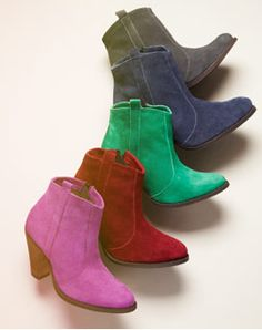 A rainbow of colorful boots from Asos