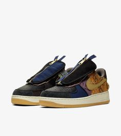 Travis Scott x Nike Air Force 1 Low Cactus Jack Multi Color Muted Bronze Fossil - SepShoe Force One, New Air Force 1, Travis Scott, Nike Snkrs, Nike Af1, Lollapalooza, Kylie Jenner, Streetwear, A Cold Wall
