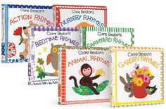 Adorable Clare Beaton Nursery Rhymes Gift Set. 6 beautiful board books printed on recycled paper.