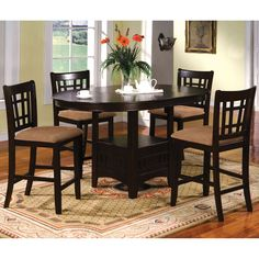 Furniture of America Toureille 5-Piece Expandable Round/Oval Counter Height Set | Overstock.com Shopping - Big Discounts on Furniture of Ame... $869.99