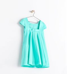 ZARA - KIDS - DRESS WITH BOW AND BOX PLEATS