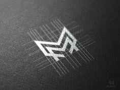 Logo Inspiration M monogram by Reloart 2 Logo, Typography Logo, Graphic Design Typography, Logo Branding, Branding Design, Brand Identity, Monogram Design, Monogram Logo, Logo Monogramme