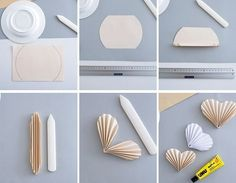 Anzeige - New Sites Paper Rosettes, Paper Flowers Diy, Diy Paper, Paper Crafting, Valentine Decorations, Valentine Crafts, Valentines, Origami And Quilling, Diy Origami