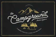 Campground Free Monoline Script