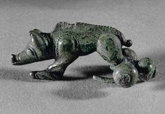 hallein celtic | boar. Bronze fibula (400 BCE) Length 6 cm Keltenmuseum, Hallein ...