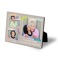 Surprise Grandma with a Glossy Easel Art photo for Mother's Day!