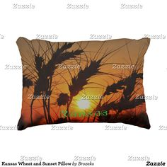 Kansas Wheat and Sunset Pillow